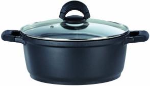 Non-stick aluminum casserole D. 24 with lid Gourmet Line