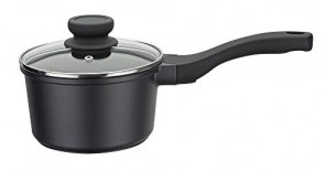 Non-stick aluminum casserole 1 handle D. 16 with lid Gourmet Line