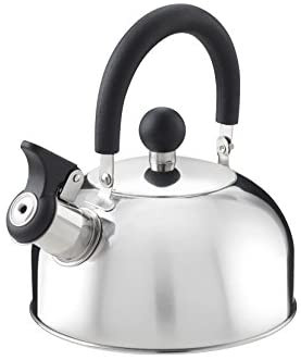 Kettle with whistle in stainless steel