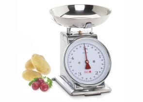 Bilancia meccanica da cucina Inox Fino 5 Kg. con piatto estraibile