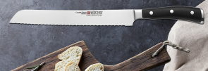 Bread knife - pastry chef - panettone Ikon Black Series by Wusthof