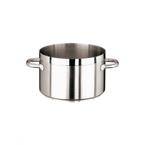 High sauce pot in stainless steel with 2 handles Grand Gourmet 1100 series of Paderno