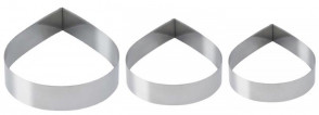 Cake ring drop D. 16 cm. in stainless steel Schneider
