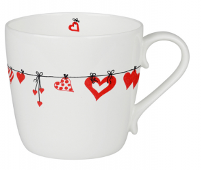 Mug DRESSED HEARTS ml. 425