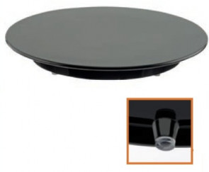 Cake plates melanine black