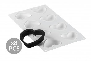 Kit Silicone Mould and 8 Ring LOVE by Silikomart Professional