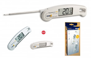 Digital thermometer with lockable probe IP65 by TFA