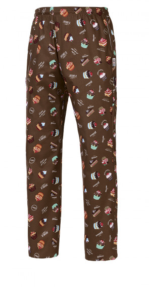 Chef's trousers in Sweets Unisex fabric