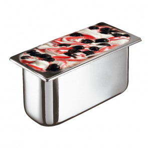 Ice cream container in stainless steel - Dim. cm. 36x16,5