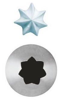 Bocchetta da pasticceria a stella con 7 punte