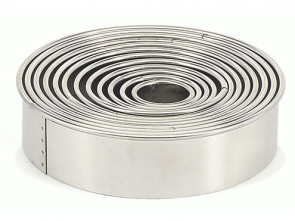 14 Paste-cutters tin-plated Ring Max 12 cm