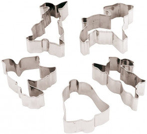 5-Piece Cutter Set for Easter Cookies, Stainless Steel