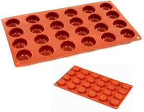 Food-approved silicone mould Pomponette