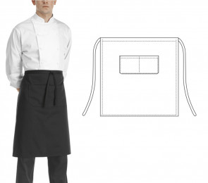Aprons chef 70 x 70 cm. Black color