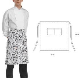 Grembiule ChefWear con tascone 70x70