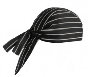 Bandana AMERICA shaped Black with white stripes