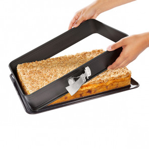 Rectangular cake tin 42 x 29 cm. for lasagna with Deluxe enamelled base