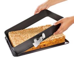 Stampo tortiera rettangolare 42 x 29 cm. per lasagne con base smaltata Deluxe