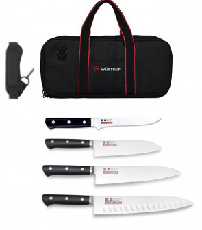 KnivesChef: Case complete with 4 Japanese Knives MV-H Series by Masahiro
