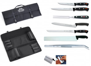 Case Events Emilia sausages : case containing slicing knives and accessories