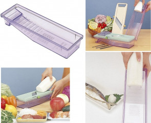Receptacle tray for Benrimer Japanese mandoline with grater