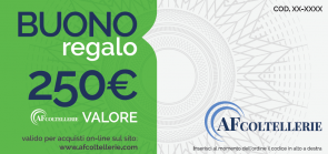 Gift Card Value € 250.00