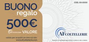 Gift Voucher - Gift Card Value € 500.00