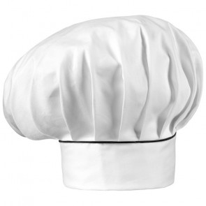 Adjustable chef hat with black finish