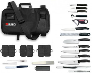 CULINARY CHEF: Dick's Bag completed with Victorinox, Kyocera knives, Microplane and accessories