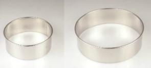 Anelli tagliapasta in inox D. 12 e 16 cm