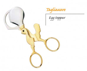 Egg-cutter scissors with golden handle