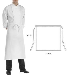 Aprons chef 90 x 100 cm. white color