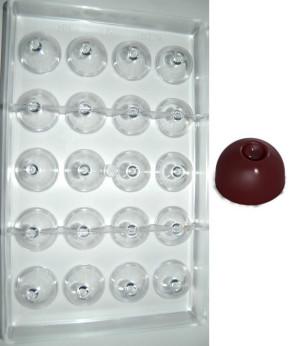 Stampo in policarbonato cioccolatino Tondo Mela