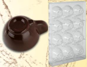 Stampo in policarbonato per cioccolato Tazzina media