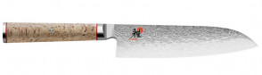 Damascus knife 101 layers Santoku blade cm. 18 Miyabi 5000 MCD series