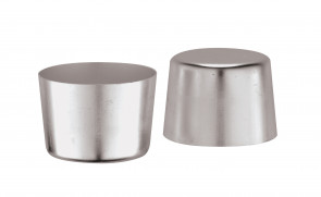 6 Aluminium moulds for crème caramel Diameter cm. 6 Height cm. 4,8