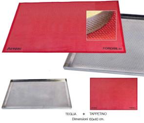 Teglia microforata per forno con tappetino Forosil