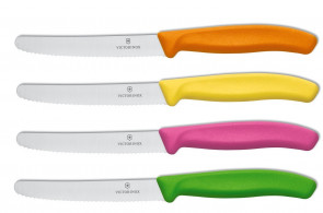 Colors on the table : 4 Victorinox SwissColors knives