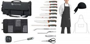 Leaving: Tecna case Complete with knives, accessories, apron and bandana.