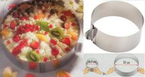 Cake setting ring, flexible Stainless steel