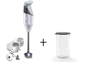 Gastro 350: Mixer Frullatore versione professionale di Bamix + Bicchiere con coperchio 400 ml.
