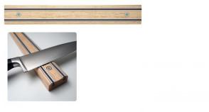 Appendicoltelli professionale - Barra magnetica per coltelli in Legno Lunghezza cm. 30