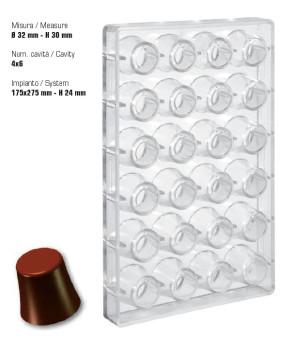 Stampo in policarbonato cioccolatini Bicchierini