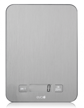Digital Kitchen Scale weighing 1 g. to 10 kg in Stainless Steel