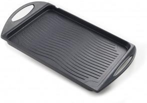 Induction non-stick aluminum grill pan