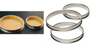 Anello per torte basso in acciaio inox Altezza cm. 2