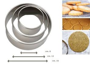 Set 3 tagliapasta coppapasta in inox D. 8-12-16
