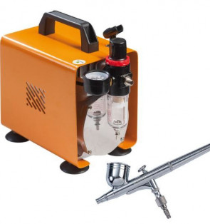 Compressor complete with double action airbrush by Martellato Professional