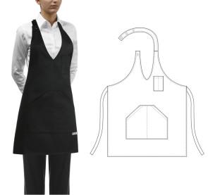 Apron with pocket for Bistrot Pub - Woman Color Black