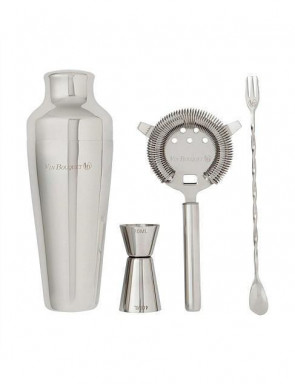 Alcoholic and Non-alcoholic Cocktail Set 4 pieces in stainless steel